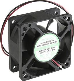 EC6025H12S, Вентилятор 12В, 60х60х25мм , подш. скольжения, 5000 об/мин