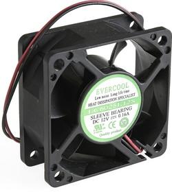 EC6025L12S, Вентилятор 12В, 60х60х25мм , подш. скольжения, 4000 об/мин