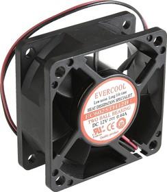 EC6025TH12B, Вентилятор 12В, 60х60х25мм , подш. качения, 6500 об/мин