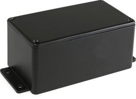 Фото 1/2 BS15MFBK, Корпус для РЭА 114x64x55мм, металл, герметичный, с крепежным фланцем, черный
