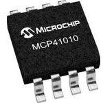 Фото 3/3 MCP41010-I/SN, Одноканальный цифровой потенциометр с интерфейсом SPI, [SOIC-8]