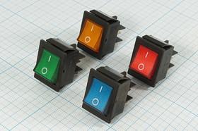 Фото 1/2 Клавишный выключатель 2-х полюсный с красной подсветкой, 12В/20А,c фиксацией,№1077 R ПКл\ 4T\20А12в\ON-OFF\\ чер/ILкр\IRS201-2C12V