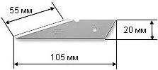 Фото 1/3 OL-CKB-2, Лезвия из нержавеющей стали для OL-CK-2, 105x50x1.2, 2шт