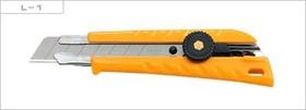 Фото 1/2 OL-L-1, Нож с выдвижным лезвием эргономичный, 18мм