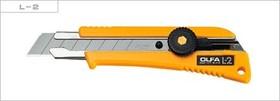 Фото 1/2 OL-L-2, Нож с выдвижным лезвием эргономичный с резиновой накладкой, 18мм