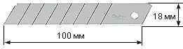 Фото 1/3 OL-LB-10B, Лезвие сегментированное, 18х100х0.5мм, 10шт