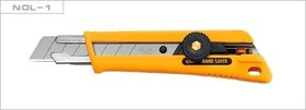 Фото 1/4 Нож OLFA с выдвижным лезвием, со специльным покрытием, фиксатор, 18мм OL-NOL-1