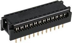 DIP-24 (FDC-24) (DS1019-24N), Разъем узкий DIP на шлейф 24 контакта