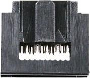 Фото 1/2 IDC1.27-10F (DS1016-01 10), Розетка 1.27мм на шлейф без фиксатора кабеля