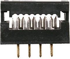 Фото 1/2 FDC-08 (DS1018-8), Вилка на плату 2.54мм на шлейф