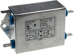 B84114-D-B10, 2х1 A, 115/250 В, Сетевой фильтр