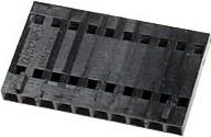 Фото 1/2 104257-9, Розетка на каб 10-контактная шаг 2.54