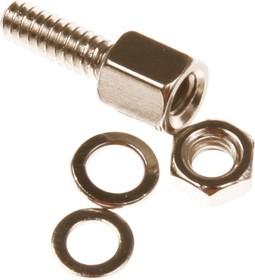 Фото 1/2 SCR-10 (DS1045-01) (СА-0230), Винт шестигранный с внутренней резьбой, комплект 1+1+2, L=8мм крепеж D-SUB
