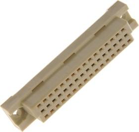 DIN41612 розетка прямая 16х3 ряда, 32 контакта ac (DIN41612-332FSD)