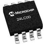 Фото 2/2 24LC00/SN, Микросхема памяти, EEPROM, 128 бит, 16 x 8бит, 400 кГц, I2C [SOIC-8]