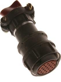 Фото 1/4 2РМТ24КПН19Г1В1В, Розетка на кабель с прямым патрубком для неэкранированного кабеля