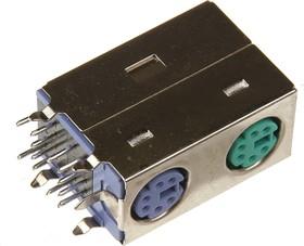 Mini DIN 2 (DS1094), Розетки экранированные на плату угловые для компьютера