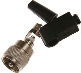 HYR-2024 (GS-1424) (UHF-7108), Разъем UHF, штекер угловой, под винт (Solderless)