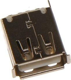 Фото 1/2 USB-AF, Розетка на панель, тип А