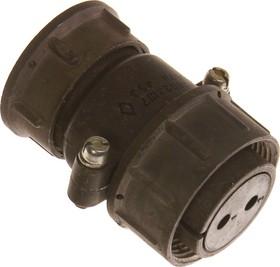 ШР28П2ЭШ7 розетка, Разъем на кабель с прямым патрубком для экранированного кабеля