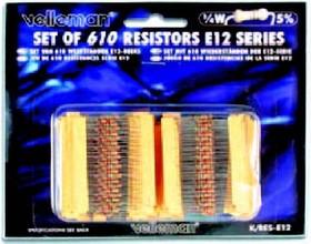 K/RES-E12, Набор резисторов 610шт ряд E12