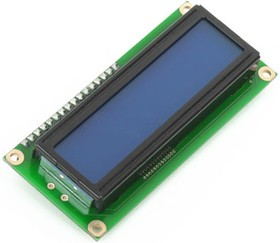 MIKROE-55, Character LCD 2x16 with blue backlight, Матричный ЖКИ с подсветкой для наборов фирмы MIKROELEKTRONIKA формат 2х16 (ME-LCD 2X16)