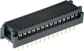 DIP-28 (FDC-28) (DS1019-28N), Разъем узкий DIP на шлейф 28 контактов