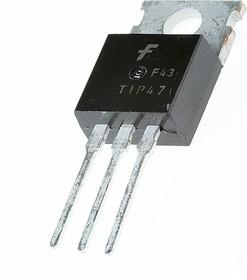 Фото 1/3 TIP47, Транзистор NPN 250В 1А 40Вт 10МГц [TO-220]