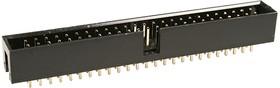 BH-50(IDC-50MS), вилка на плату шаг 2.54мм прямая (аналог DS1013-50SSIB1-B-0)