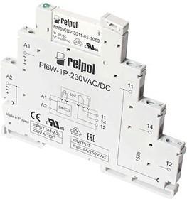 Фото 1/2 PIR6W-1P-230VAC/DC (GRAY), Интерфейсное реле