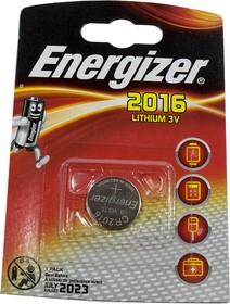 CR2016 ENRGIZER, батарейка Lithium CR2016 1шт 3V