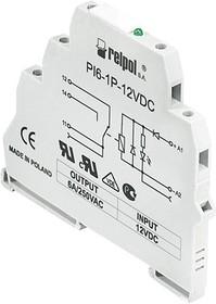PI6-1P-24VDC, Интерфейсное реле, 1 перекл. контакт, 24VDC, моноблок, светодиод