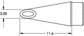 Фото 1/2 Картридж-наконечник для MFR-H1, вогнутая миниволна 2.0х11.6мм