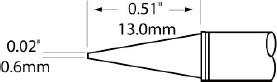 Картридж-наконечник для MFR-H1, конус удлиненный 0.6х14.9мм