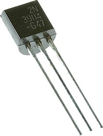 Фото 1/2 2N3904, Транзистор NPN 40В 0.2А 0.35Вт [TO-92]
