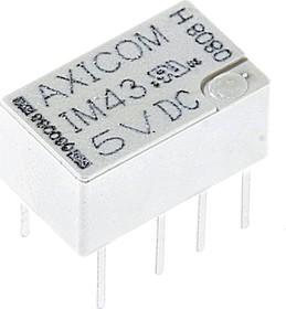 Фото 1/2 5-1462037-8 (IM43TS), Реле высокочастотное 5VDC DPDT 100мВт 2A