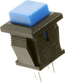PBS-15CBL, Кнопка квадратная ON-(OFF) (1A 250VAC), синяя 8.8х8.8мм