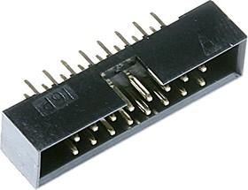 BH2-16 (DS1014-16) (IDC2-16MS), Вилка на плату прямая 16 конт. 2.00мм