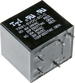 TR91-5VDC-SC-C, Реле 1пер. 5VDC / 20A, 240VAC