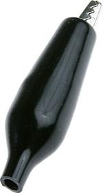 """AG-105A-C (8-0026 black), Зажим """"Крокодил"""" с изолятором черный, 5А, 35мм"""