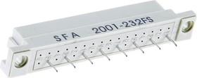 DIN41612 (DS1118-32F-11), Розетка 16х2 ряда А (нечетн.)