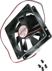 EC9225LL12B, Вентилятор 12В, 92х92х25мм , подш. качения, 1500 об/мин