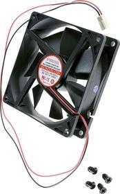 EC9225L12B, Вентилятор 12В, 92х92х25мм , подш. качения, 1800 об/мин