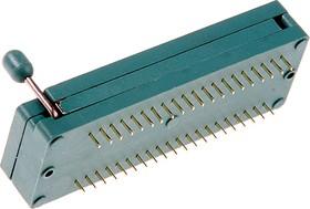 """Фото 1/2 DS-1043-40, DIP панель 40-контактная с нулевым усилием 0.3""""-0.6"""""""