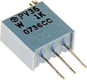 PV36W102, 1 кОм (3296W-1-102, СП5-2ВБ), резистор подстроечный