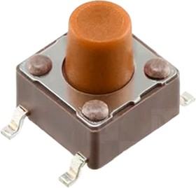 Фото 1/2 DTSM-65N-V-T/R, кнопка тактовая SMT 6x6 H-9.5 160gf