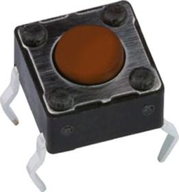 Фото 1/2 DTS-62N-V, кнопка тактовая 6x6 H-5 160gf с заземлением