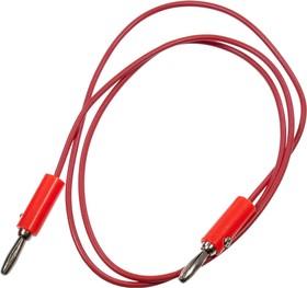 Провод ПВ-3 1,0 красный, банан+банан 0,7м