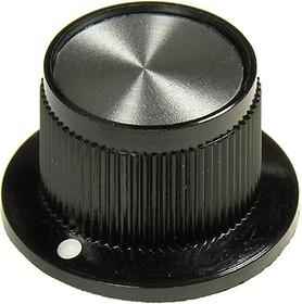 41009-3В, Ручка металлическая (пластиковая вставка), d22.6 мм