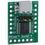 Фото 3/3 ADM00393, Оценочный модуль, для MCP2200, USB-UART, 8 универсальных линий, DIP форм-фактор